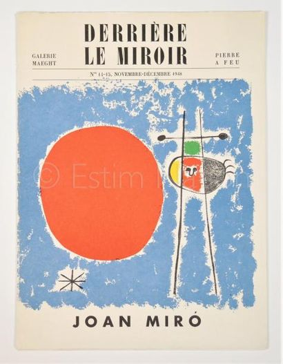 DERRIERE LE MIROIR N° 14 - 15- MIRO - 1948