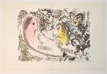 DERRIERE LE MIROIR - N° 182 - CHAGALL - 1969