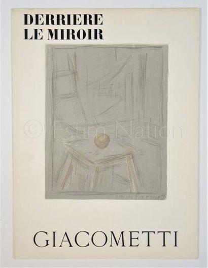 DERRIERE LE MIROIR N° 65 -  GIACOMETTI - 1954