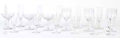 Partie de service de verres