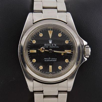 ROLEX SUBMARINER REF 5513 Rolex Submariner. Réf 5513. N° de série 299 5669. Vers...