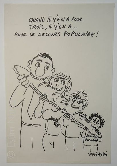 AFFICHES - SECOURS POPULAIRE - WOLINSKI