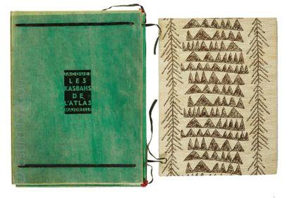 MAJORELLE.- Les kasbahs de l'Atlas. P. Meynial 1930. in folio en ff., couv illustrée....