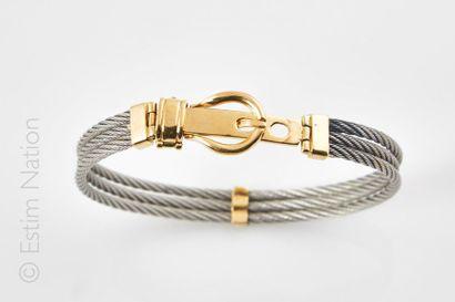 Bracelet composé de fils d'acier torsadé...