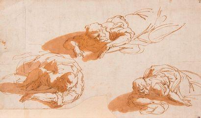 G. GOSTIAUX (1838- ?)  David  Mine de plomb sur papier. Signé et daté 1875  13,5...