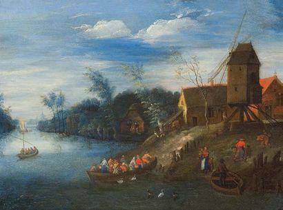 Ecole FLAMANDE du XVIIème siècle, entourage de Pieter GYSELS