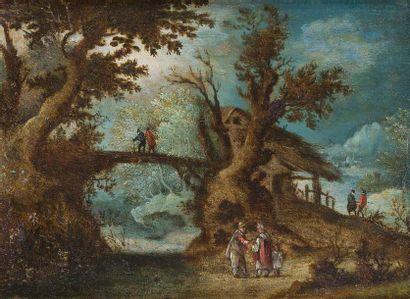 Ecole FLAMANDE vers 1605, entourage de Gillis van CONINXLOO