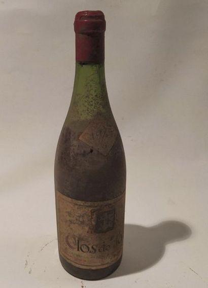 Une bouteille Clos de Tart Momessin. Bourgogne...