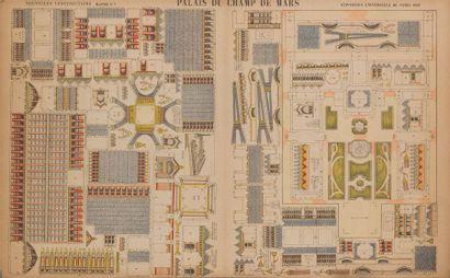 Maquette du palais du champ de Mars de l'exposition...