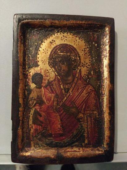 Vierge à l'enfant d'Iverskaïa.  Icone russe...