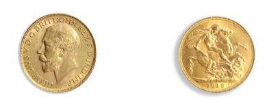 - Grande-Bretagne Souverains: 10 exemplaires. Edouard VII (2 ex), Victoria (2 ex)...