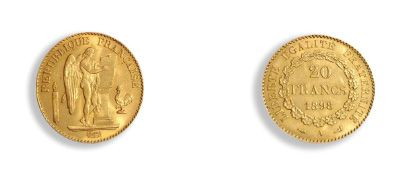 - France francs or: 10 exemplaires. 2nd Empire....