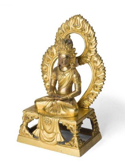 - Statuette en bronze doré Représentant le...