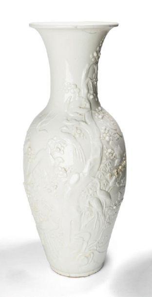 - Vase en porcelaine blanc de Chine sous...