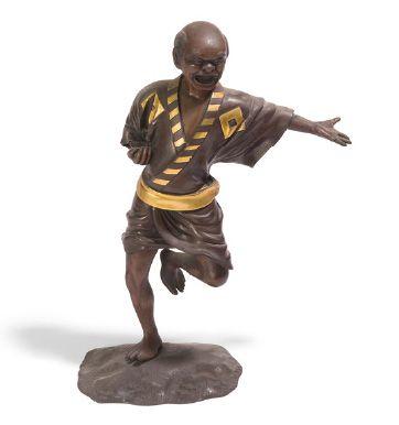 - Sujet en bronze partiellement doré représentant...