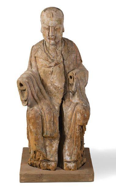 - Lohan assis en délassement Importante sculpture...