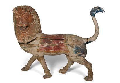 - Lion (coiffe et selle) Grande sculpture...