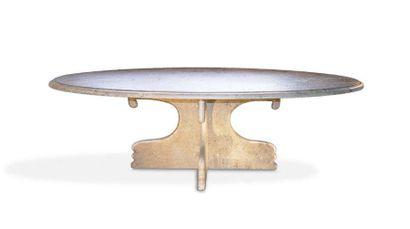 - Table basse ovale en ardoise verte du Brésil...