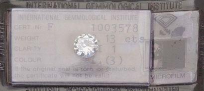 - Diamant sous scellé pesant 2,13 carats....
