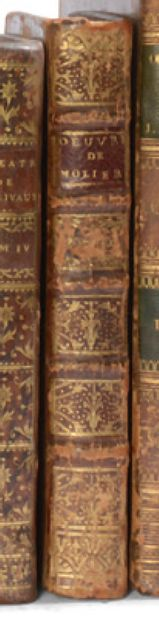 MOLIERE. Works. 1729. 8 volumes, calf of the period