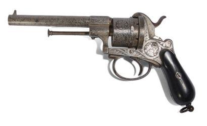 Gros révolver type LEFAUCHEUX Cal 9mm. Carcasse...
