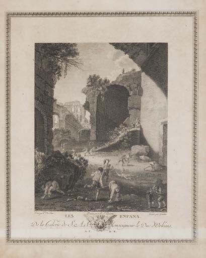 Ecole française du XIXème siècle,D'après Pieter Van LAER (1599-1642) et Domenico FETTI (1589 - 1623)