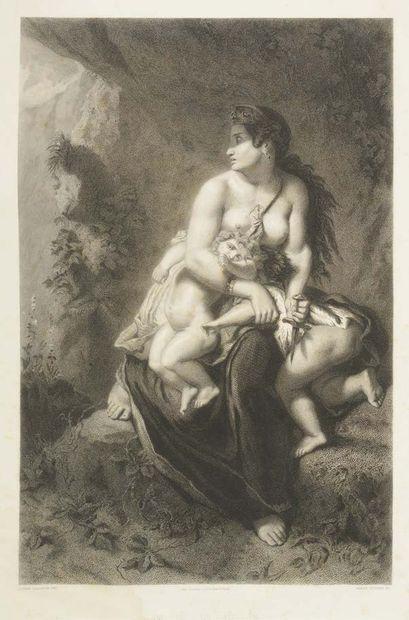 Ecole française du XIXème siècle (D'après Eugène Delacroix)