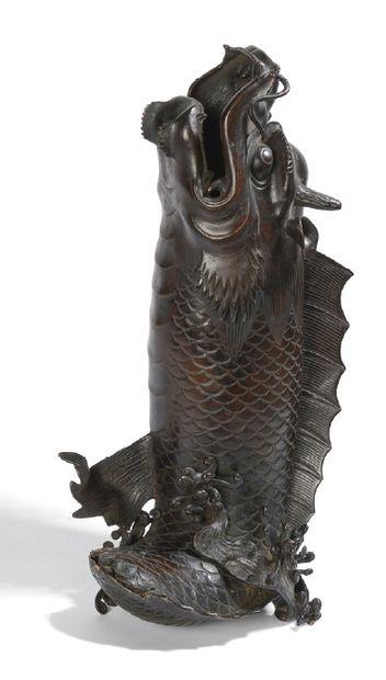 Sujet en bronze, représentant le dragon Ao...