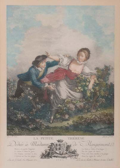Dans le goût de l'école française du XVIIIème siècle.D'après J. COUBE