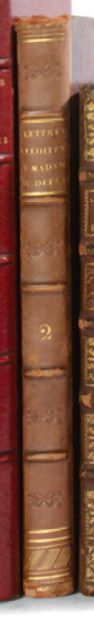 DU DEFFAND. Correspondence. 1809. 2 volumes, half calf of the period.