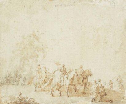 Ecole Française. Fin XVIIIème siècle.<br/>Suiveur de Francesco CASANOVA (1727-1803)