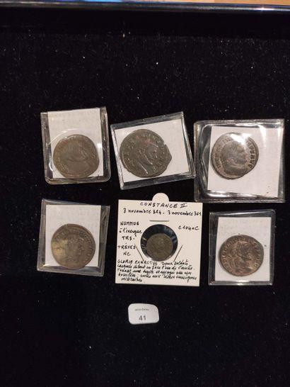Antoninian: 3 copies. Probus (2 copies) C. 256 and 718 - Diocletian C. 17. Follis:...