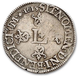 LOUIS XIII (1610-1643) Half franc, 4th type. 1615. Saint-Lô. D. 1312. Almost TT...