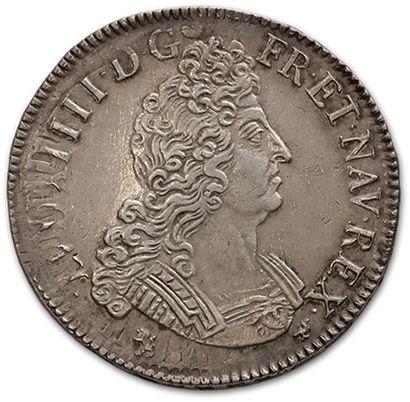 Écu aux huit L, 2e type. 1704. Rennes. D....