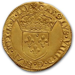 CHARLES IX (1560-1574) Écu d'or au soleil....