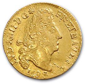 Louis d'or aux quatre L. 1694. Réf. D. 1440A. TTB.