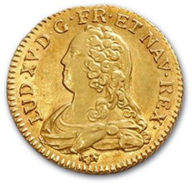 Louis d'or aux lunettes. 1733. D. 1640. Almost superb.