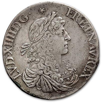 Écu au buste juvénile. 1664. Rennes. Demi...