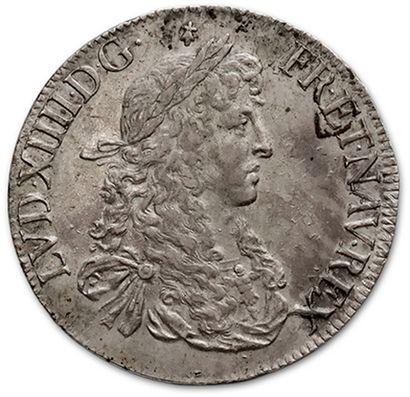 Écu au buste juvénile. 1668. Rennes. D. 1483....