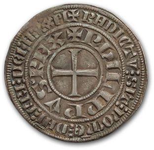 PHILIPPE IV (1285-1314) Gros tournois à l'Orond. D. 213. A very fine copy.