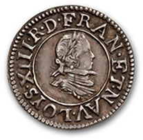 Denier tournois. 1622. Essai en argent. Ci....