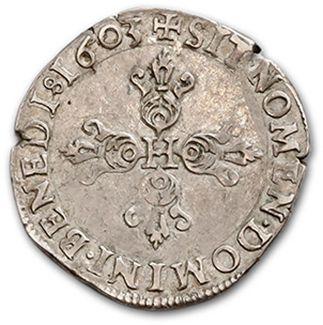 HENRI IV (1589-1610) Half franc. 1603. D. 1212. TTB.