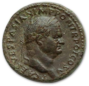 TITUS (79-81) Sesterce. Rome (75). Sa tête...