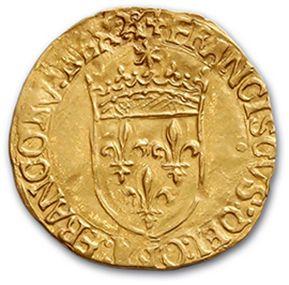 Écu d'or au soleil, 5e type. Angers (Pt 8e)....