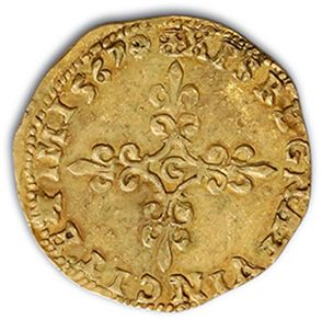 Écu d'or au soleil. 1567. 3,27 g. D. 1057. TTB.