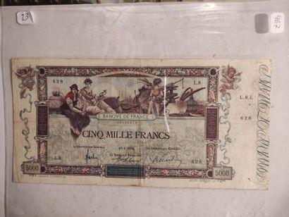 Billet de 5000 F Flameng du 10.01.1918 (F....
