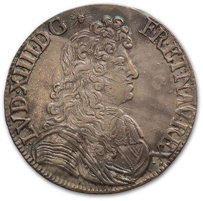 Écu à la cravate. 1681. Rennes. D. 1493....