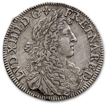 Demi écu de Béarn au buste juvénile. 1677....