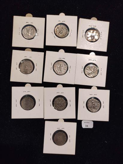 Antoninian: 10 copies. Gordian III (3 ex.) C. 312, 381 and 404 - Philip I (2 ex.)...
