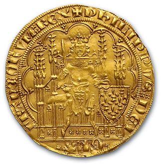 PHILIPPE VI (1328-1350) Écu d'or à la chaise....